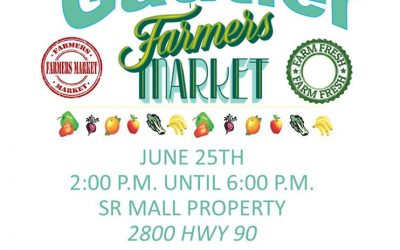Gautier Farmers' Market Opening June 25th