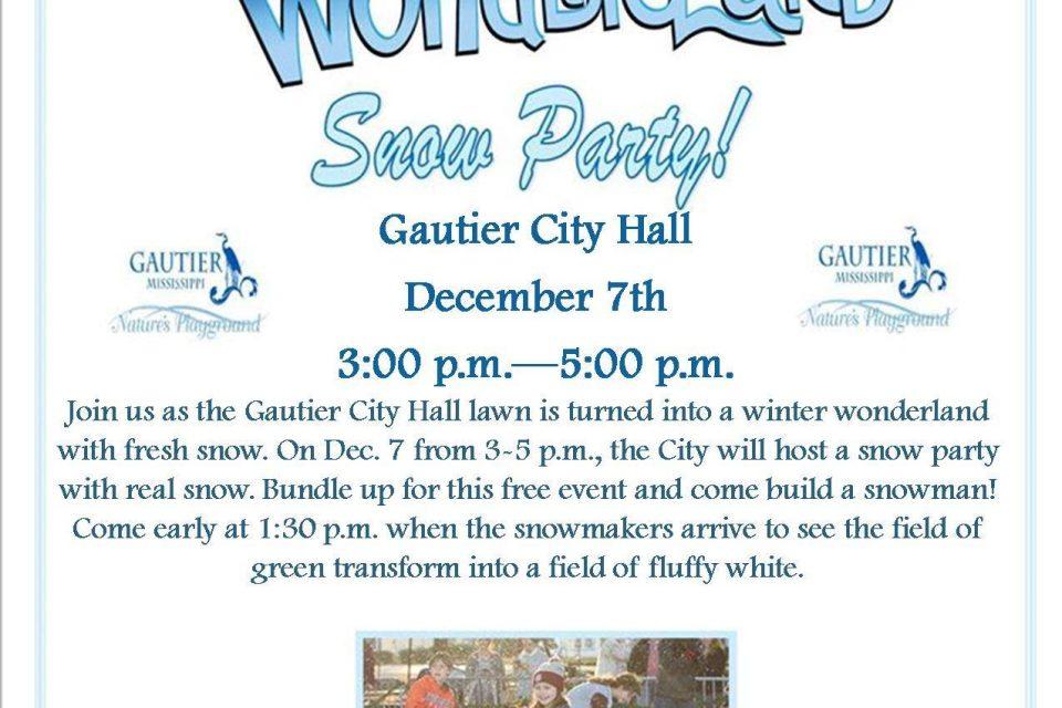 Winter Wonderland, Dec. 7, at Gautier City Hall